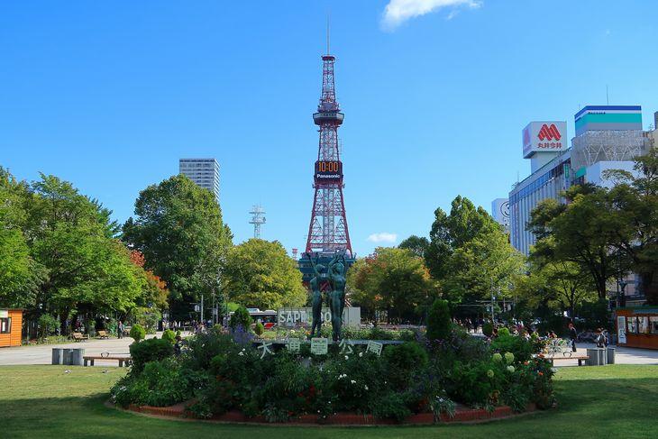札幌 大通公園とさっぽろテレビ塔