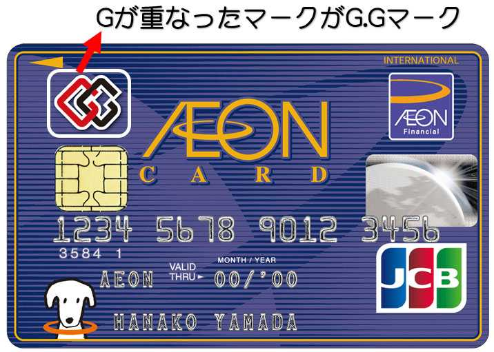 G.Gマーク付きのイオンカード